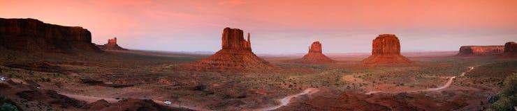 Het monumentenvallei van het panorama Stock Foto