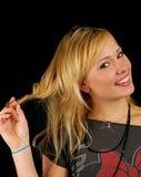 Het mooie aantrekkelijke vrouw glimlachen Royalty-vrije Stock Afbeeldingen