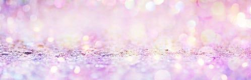 Het mooie abstracte glanzende licht en schittert Royalty-vrije Stock Afbeelding