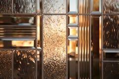 Het mooie Afgeschuinde Venster van het Glas Stock Afbeelding