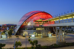 Het mooie Anaheim Regionale Intermodal Doorgangscentrum Stock Afbeelding