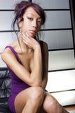 Het mooie Aziatische vrouwen benieuwd zijn Royalty-vrije Stock Fotografie
