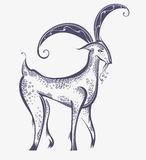 Het mooie beeld van het geitsymbool Stock Afbeelding