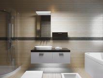 Het mooie Binnenland van de Badkamers Stock Afbeelding