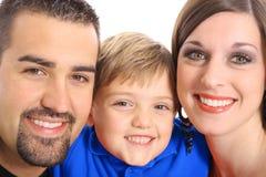 Het mooie blauw van het familieportret Royalty-vrije Stock Foto's