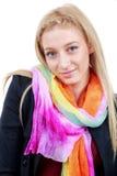 Het mooie blondevrouw stellen in studio Royalty-vrije Stock Fotografie