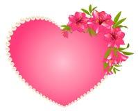 Het mooie boeket van de Lelie met harten Stock Foto