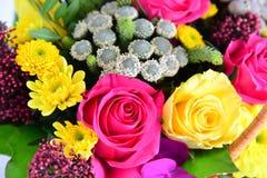 Het mooie boeket van verschillende bloemen sluit omhoog Royalty-vrije Stock Afbeelding