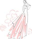 Het mooie Bruid Glimlachen Vector Illustratie