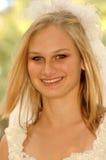 Het mooie bruid glimlachen Royalty-vrije Stock Foto's