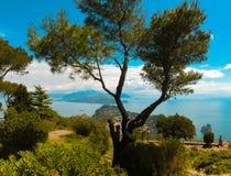 Het mooie Capri-eiland stock afbeeldingen