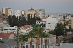 Het mooie Centrum van de Overzichtsstad Limassol in Cyprus stock afbeelding