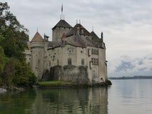 Het mooie Chillon-kasteel op meer Genève stock fotografie