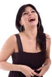 Het mooie dame lachen stock foto