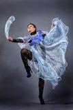 Het mooie dansen van het Meisje Royalty-vrije Stock Afbeeldingen