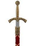 Het mooie die zwaard op een witte achtergrond wordt geïsoleerd royalty-vrije stock fotografie