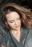 Het mooie Donkerbruine Meisje van de Tiener Stock Foto