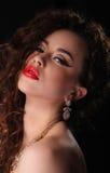 Het mooie Donkerbruine Portret van de Vrouw Royalty-vrije Stock Fotografie