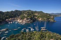 Het mooie dorp van Portofino, dorp dichtbij Genua, Italië stock afbeelding