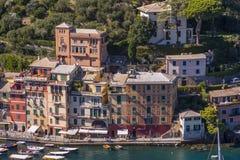 Het mooie dorp van Portofino, dorp dichtbij Genua, Italië stock foto's