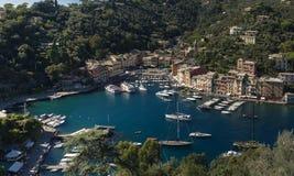 Het mooie dorp van Portofino, dorp dichtbij Genua, Italië royalty-vrije stock afbeeldingen