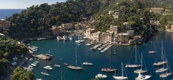 Het mooie dorp van Portofino, dorp dichtbij Genua, Italië royalty-vrije stock foto's