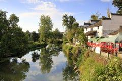 Het mooie dorp van het sixiwater in wuyuan provincie, rgb adobe stock afbeeldingen