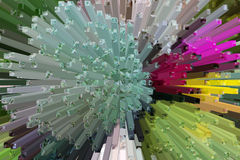 Het mooie driedimensionele beeld Stock Afbeeldingen