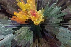 Het mooie driedimensionele beeld Royalty-vrije Stock Afbeeldingen