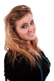 Het mooie en grote jonge vrouw glimlachen Stock Fotografie