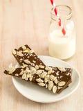 Artisanaal de chocoladesuikergoed van de Toffee royalty-vrije stock afbeelding