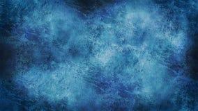 Het Mooie feestelijke ijzige patroon van de ijstextuur met witte sneeuwvlokken op een blauwe achtergrond stock foto