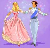 Het mooie gelukkige paar danst Stock Fotografie