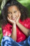 Het mooie Gemengde Afrikaanse Amerikaanse Meisje van het Ras royalty-vrije stock foto's