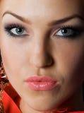 Het mooie gezicht van de close-up Royalty-vrije Stock Foto's