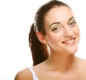 Het mooie gezicht van de gezondheidsvrouw met schone zuiverheidshuid royalty-vrije stock foto's