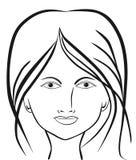 Het mooie Gezicht van de Vrouw Stock Afbeeldingen