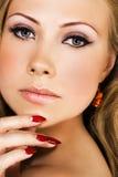 Het mooie gezicht van de vrouw royalty-vrije stock foto's