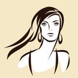 Het mooie gezicht van het meisje stock illustratie