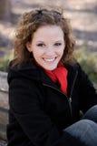 Het mooie Glimlachen van de Vrouw royalty-vrije stock foto