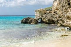 Het mooie Grote Knip-Strand in de Caraïben stock foto's