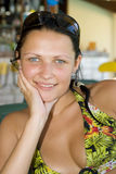 Het mooie jonge meisje glimlachen Royalty-vrije Stock Afbeelding