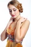 Het mooie jonge model stellen Stock Fotografie