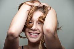 Het mooie jonge model stellen Stock Afbeelding