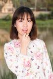 Het mooie jonge portret van de meisjesmanier Stock Foto