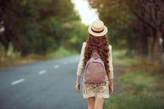 Het mooie jonge vrouw reizen Royalty-vrije Stock Fotografie
