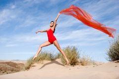 Het mooie jonge vrouwelijke uitoefenen Stock Fotografie
