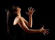 Het mooie jonge vrouwen dansen Stock Foto