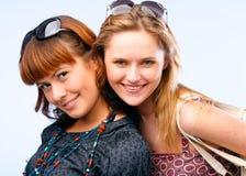 Het mooie jonge vrouwen stellen Stock Foto