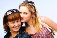 Het mooie jonge vrouwen stellen Stock Foto's